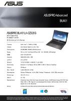 Acer Datenblatt